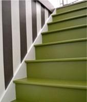 Trap verven werkwijze tips voorbeelden geverfde trappen - Hoe om te schilderen een trap ...