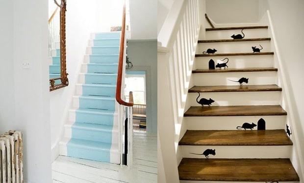 Trap verven mogelijkheden prijs tips voorbeelden geverfde trappen - Witte trap grijs ...