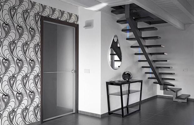 Stalen trappen inspiratie info prijs advies - Behang voor trappenhuis ...