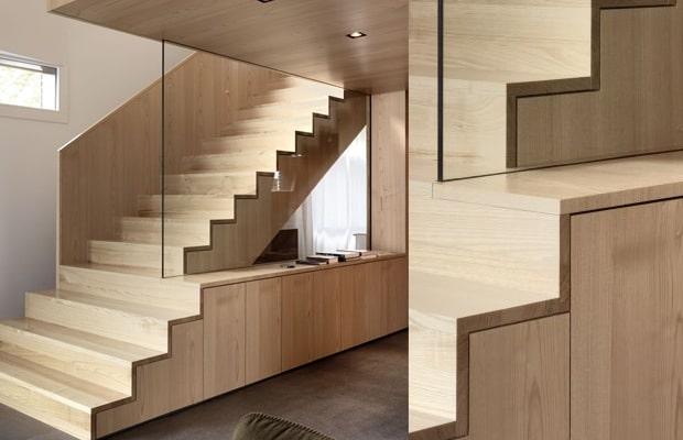 Woonkamer deuren inbouwkast - Wand trap ...