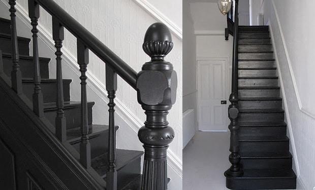 Trap verven werkwijze tips voorbeelden geverfde trappen - Verf voor gang ...