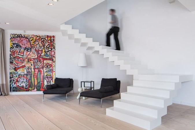 Design trappen realisaties prijs advies design trap - Baignoire au milieu de la piece ...