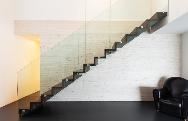 glazen leuning design trappen