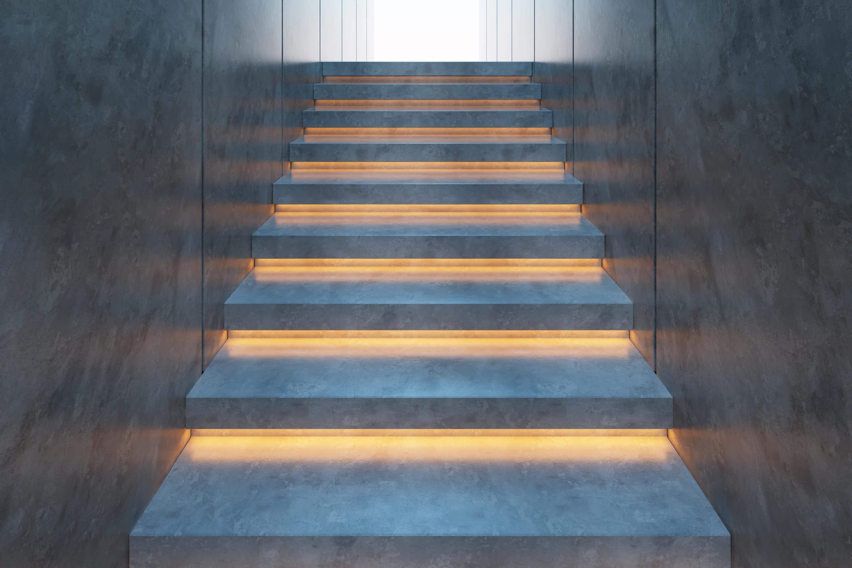 traprenovatie met led-verlichting
