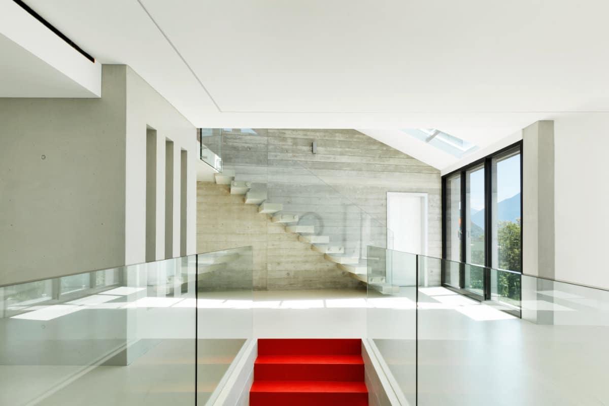 zwevende trap glas