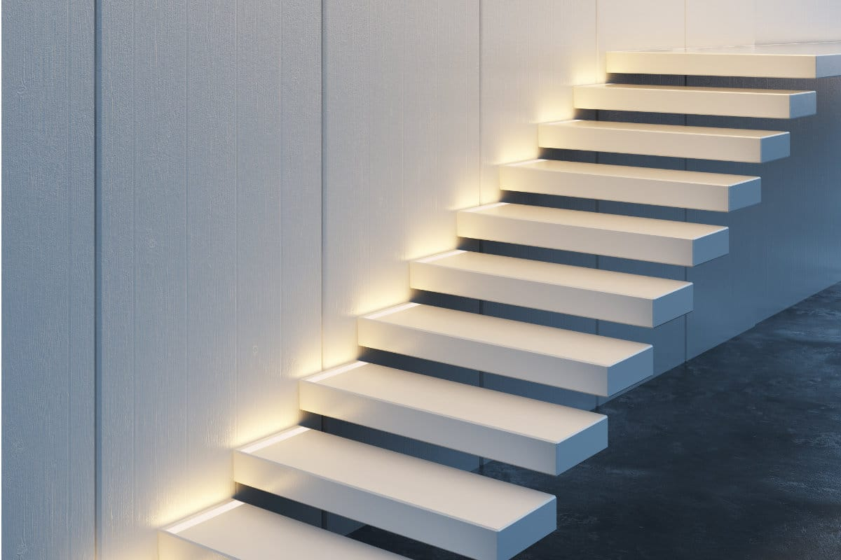 zwevende trap led verlichting
